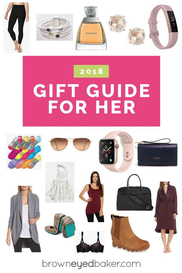 A collage of products suitable for gifts for women.