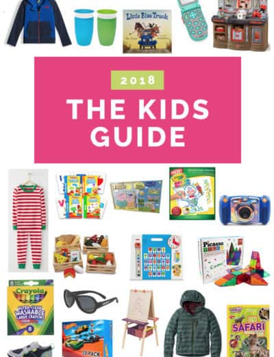 A collage of gifts suitable for toddlers and preschoolers.