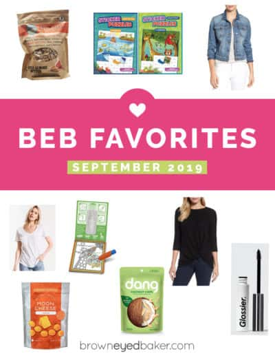"""A collage of products with the text """"BEB Favorites September 2019"""""""