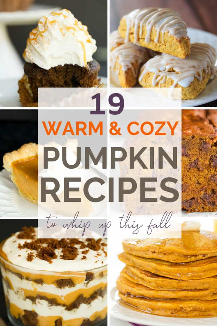 A collage of pumpkin recipes with text overlay