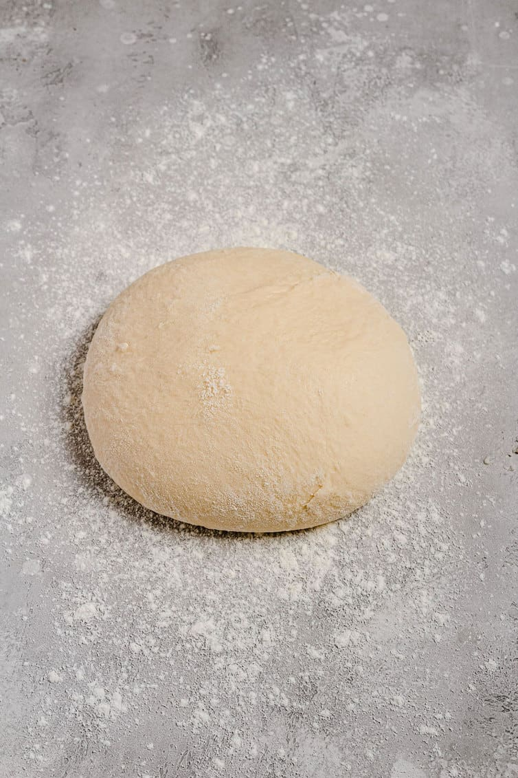Ball of dough for monkey bread recipe