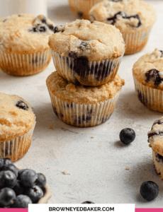 Os melhores muffins de mirtilo | Padeiro de olhos castanhos 3