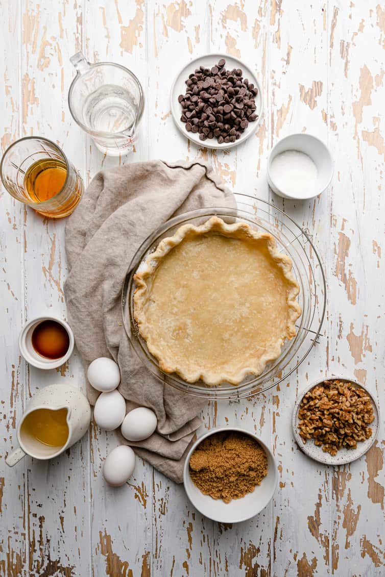 Ingredients prepped for derby pie