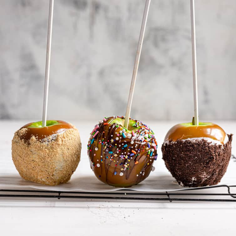Homemade Caramel Apples Brown Eyed Baker