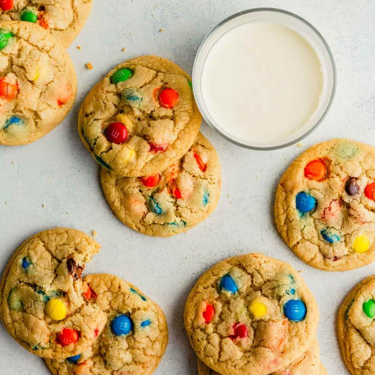 Super Soft And Chewy M M Cookies Brown Eyed Baker