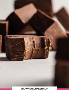 Easy Chocolate Fudge Recipe Brown Eyed Baker