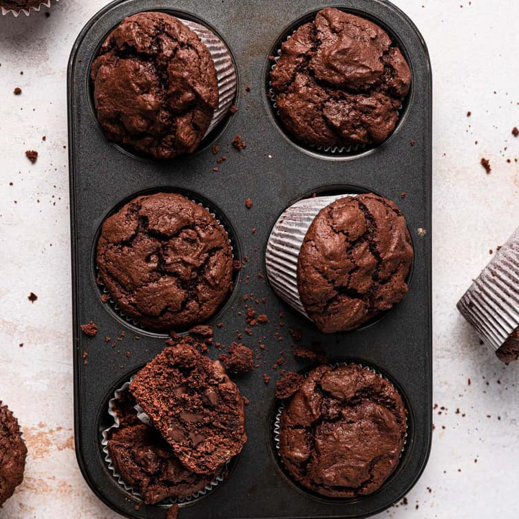 Triple Chocolate Muffins Brown Eyed Baker