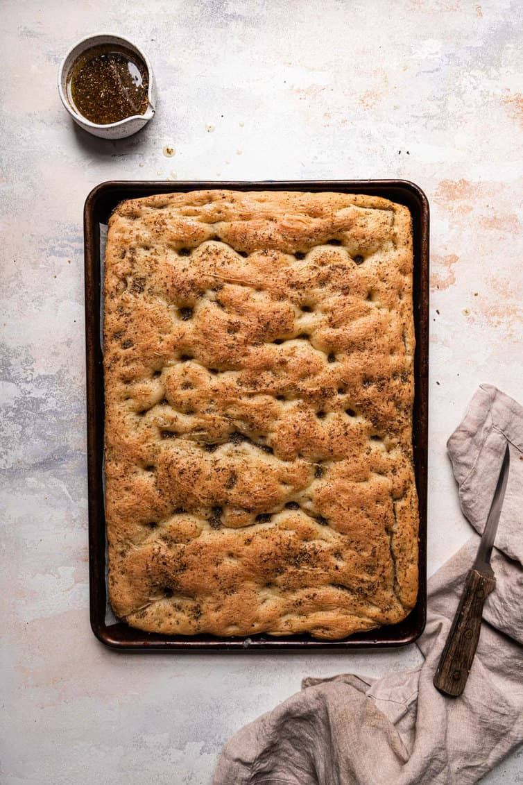 Traditional Focaccia Bread Brown Eyed Baker
